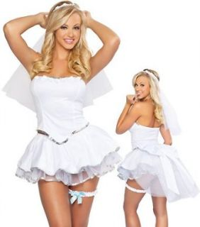 3WISHES 'Adorable Bride Costume' Sexy Bride Costumes for Women: 3WISHES: Clothing