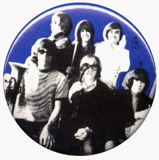 """Jefferson Airplane   Instruments (Group Shot on Blue)   1.25"""" Button / Pin Clothing"""