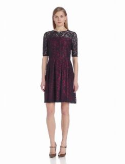 Gabby Skye Women's Elbow Sleeve Lace Flare Dress at  Women�s Clothing store