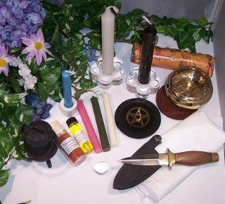 Altar Set (Complete) with Incense, Oil and Gemstone.: Health & Personal Care