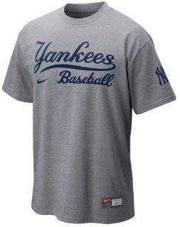 Nike New York Yankees Grey Baseball T Shirt (XXL52)  Sports Fan T Shirts  Sports & Outdoors