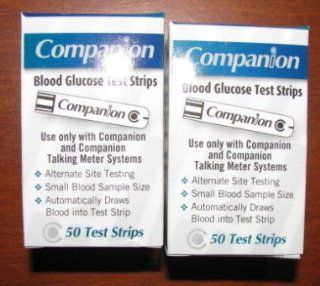 Companion Blood Glucose Test Strips 400 Count Plus 200 Generic Lancets Health & Personal Care