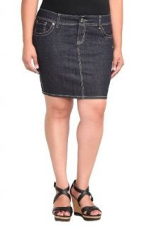 Torrid Denim   Dark Rinse Mini Skirt at  Women�s Clothing store