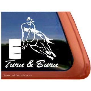 Got Barrels? ~ Barrel Racing Horse Trailer Vinyl Window Decal Sticker: Automotive