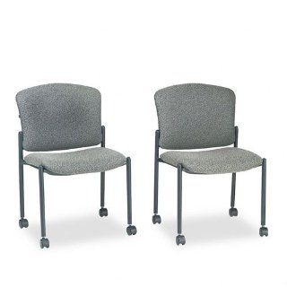 Pagoda Mobile Stacking Chair Without Arms, Iron Gray Fabric, Carton of 2: Electronics