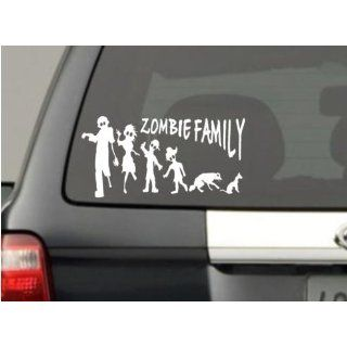 Funny Stick Figure Family ZOMBIES Decal: Everything Else