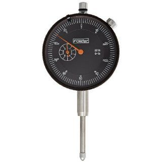 "Fowler AGD Dial Indicator, 1"" Maximum Measuring Range, 0.001"" Graduation Interval, 0 100 Continuous Reading, 2.25"" Diameter: Industrial & Scientific"