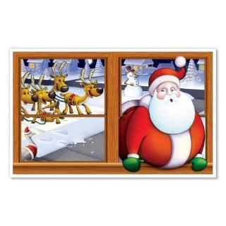 Beistle 1 Pack Santa Insta View Sheet for Party Decorations, 3 Feet 2 Inch by 5 Feet 2 Inch: Kitchen & Dining
