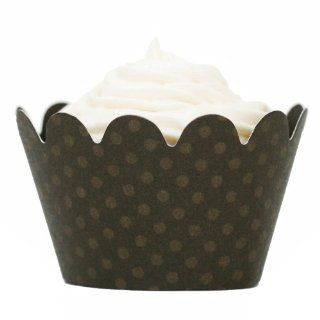Maya Espresso Brown Mini Cupcake Wrappers (set of 108): Everything Else