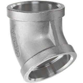 Stainless Steel 316 Cast Pipe Fitting, 45 Degree Elbow, Socket Weld, MSS SP 114, Female: Industrial & Scientific