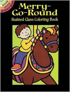 Merry Go Round Stained Glass Coloring Book (Dover Stained Glass Coloring Book): Cathy Beylon, Coloring Books: 9780486430003: Books