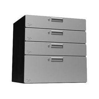 Steel Storage Drawers Stainless Steel   Standing Shelf Units