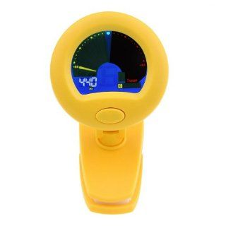 NEEWER� CT 117 360 Degrees Rotate LCD Display Clip Tuner For Chromatic/Guitar/Bass/Violin/Ukulele, Yellow Musical Instruments