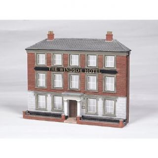 Bachmann Scene Scapes False Front Resin Building   Windsor Hotel   HO Scale: Toys & Games