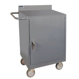 "Durham 16 Gauge Welded Steel Mobile Bench Cabinet, 2200 95,  1200 lbs Capacity,  18"" Length x 24"" Width x 38 3/8"" Height,  1 Shelf,  Gray Powder Coated Finish: Industrial & Scientific"