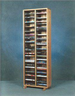 200 Series 128 DVD Multimedia Storage Rack Finish Clear   Cd Storage Racks