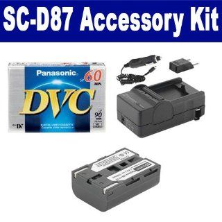 Samsung SC D87 Camcorder Accessory Kit includes SDSBL110 Battery, DVTAPE Tape/ Media, SDM 122 Charger Camera & Photo