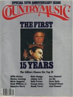 COUNTRY MUSIC magazine September/October 1987 (Number 127, 15th Anniversary Issue, Willie Nelson, Waylon Jennings, Merle Haggard, Hank Williams Jr., Emmylou Harris, Ricky Skaggs, Johnny Cash on cover, Dolly Parton, George Jones, Randy Travis, Gary Stewart,