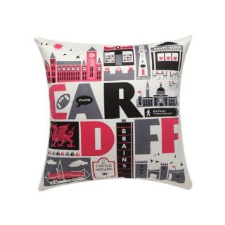 Bch Artificial Silk Thicken Cushion Cover Throw Cushion Cover OSL 139 City Pattern Throw Cushion Cover Cartoon Style Square Red Black Grey 18*18  Patio Furniture Cushions  Patio, Lawn & Garden