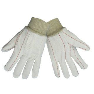 Global Glove C18C 100 Percent Cotton Corded Canvas Glove with Knit Wrist Cuff, Work, Large, Natural (Case of 144): Industrial & Scientific