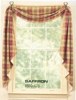 "Fishtail Swag   Saffron 145"" x 25""   Window Treatment Swags"