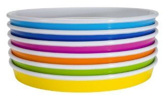 Zak Designs Park 6 Piece Salad Plate Set, Assorted Colors Kitchen & Dining