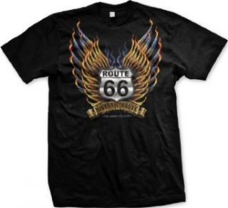 Historic Route, Route 66 Mens T shirt, The Legend Rolls On Mens Shirt Clothing