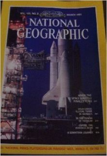"National Geographic Magazine, March 1981, ""When the Space Shuttle Finally Flies"" (National Geographic Magazine, Vol. 159, No. 3): meremart: Books"
