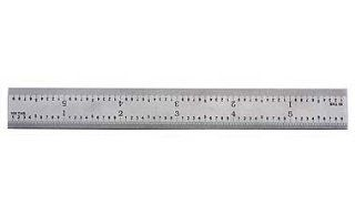 "PEC Tools 162 006 6"" 16R USA Rigid Steel Rule, reads 32nds, 64ths, 50ths, 100ths.: Home Improvement"