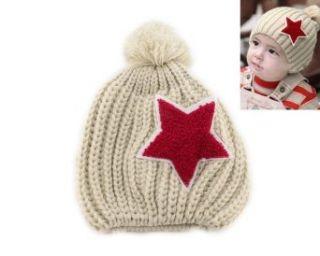 Warm Star Baby Toddler Kid Child Girl Boy Winter Knitted Cap Hat Beanie Beige Clothing