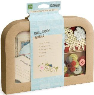 Making Memories Passport Suitcase Embellishment Kit 155 Pieces, 30 Blossoms/100 Buttons/25 Die Cuts Arts, Crafts & Sewing
