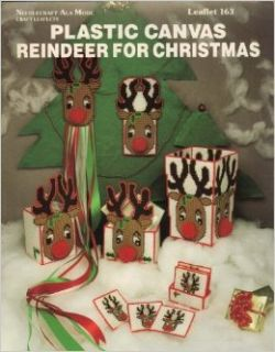 Plastic Canvas Reindeer For Christma Leaflet 163: Needlecraft Ala Mode: Books