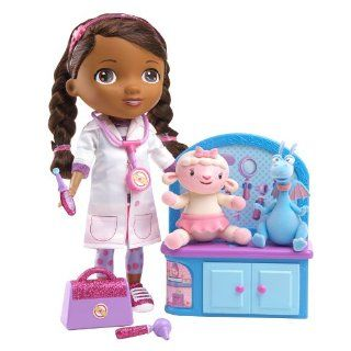 Disney Doc McStuffins Time for Your Checkup Interactive Talking Doll + Lambie Plush Doll: Toys & Games
