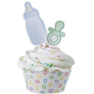 Baby Feet Cupcake Wrappers with Pacifier and Bottle Picks   12/Pack : Other Products : Everything Else
