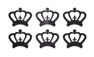 1 Inch Fabric Glitter Crown Iron On Fabric Transfer Home & Kitchen