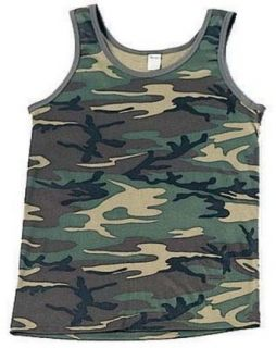Camouflage Tank Top Woodland Camo: Clothing