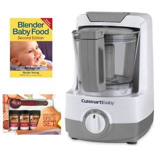 Cuisinart BFM 1000 Baby Food Maker and Blender Baby Food Over 175 Recipes for Healthy Homemade Meals and Kamenstein Mini Measuring Spoons Spice Set Baby