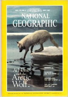Vol. 171, No. 5, National Geographic Magazine, May 1987: At Home with the Arctic Wolf; Ukraine; Chernobyl  One Year After; New Zealand: The Last Utopia?; The Captivating Kiwifruit: L. David Mech & Jim Brandenburg; Mike Edwards & Steve Raymer; Rober