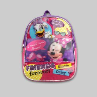 "Disney Minnie Mouse & Daisy Duck Toddler Girl's 10"" Backpack: Toys & Games"