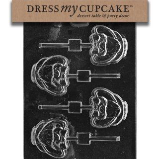 Dress My Cupcake DMCE179SET Chocolate Candy Mold, Cute Big Eared Bunny Head, Set of 6: Kitchen & Dining