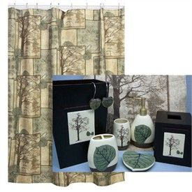 Natures Elements Shower Curtain and Bath Accessories