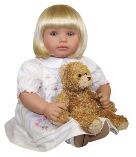 Molly P. Originals Zoe 18 in. Doll with Daisy Bear Combo   Baby Dolls