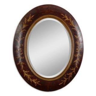 Minda Antiqued Dark Walnut Wall Mirror   36W x 44H in.   Wall Mirrors