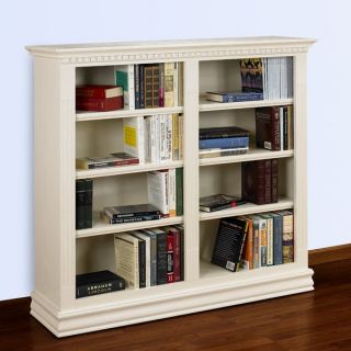 A & E Hampton Double Wide Bookcase   48 Inch   Bookcases