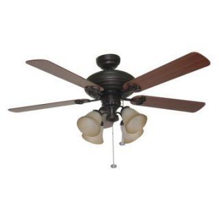 Ellington E BFT52ABZ5C Beaufort 52 in. Indoor Ceiling Fan   Aged Bronze   Ceiling Fans