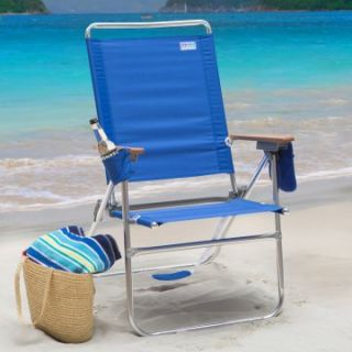 Rio Pacific Blue Hi Boy Beach Chair   Beach Chairs