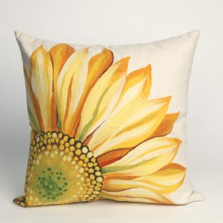 Liora Manne Sunflower Indoor / Outdoor Throw Pillow   Decorative Pillows
