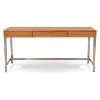 Jesper Highland Collection 64 in. Desk with Metal Legs   Natural Cherry   Computer Desks