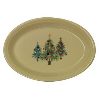 Fiesta Christmas Tree Trio Oval Platter   13 in.   Serving Platters