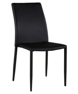 Chintaly Fiona Upholstered Dining Side Chairs   Black   Set of 2   Dining Chairs
